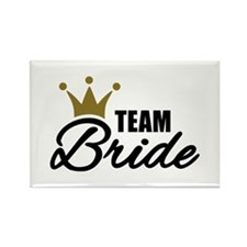 Team Bride crown Rectangle Magnet
