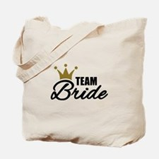 Team Bride crown Tote Bag
