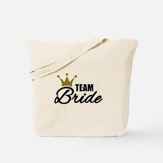 Team Bride crown Tote Bag