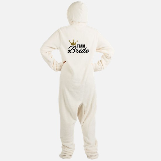 Team Bride crown Footed Pajamas