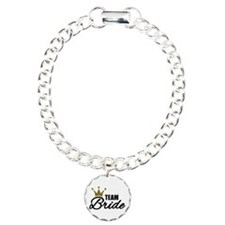 Team Bride crown Charm Bracelet, One Charm