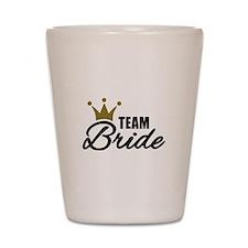 Team Bride crown Shot Glass