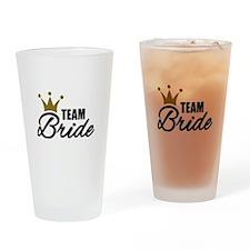 Team Bride crown Drinking Glass