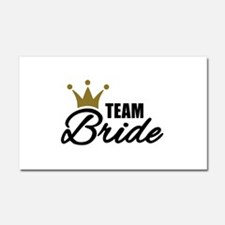 Team Bride crown Car Magnet 20 x 12