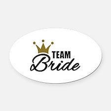 Team Bride crown Oval Car Magnet