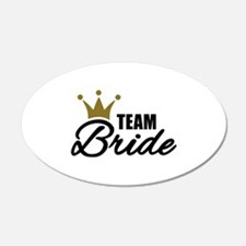 Team Bride crown Wall Decal