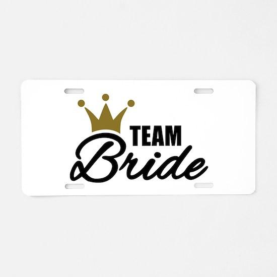 Team Bride crown Aluminum License Plate