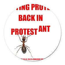Protest ant Round Car Magnet