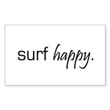 Surf Happy Rectangle Decal