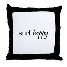 Surf Happy Throw Pillow