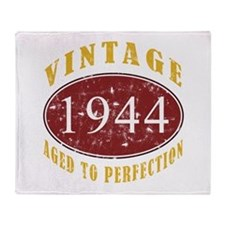 1944 Vintage (Red) Throw Blanket
