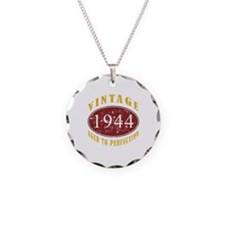 1944 Vintage (Red) Necklace Circle Charm