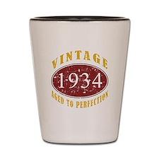 1934 Vintage (Red) Shot Glass