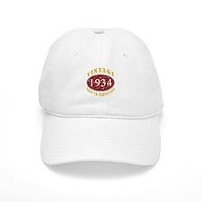 1934 Vintage (Red) Baseball Cap