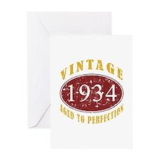 1934 Vintage (Red) Greeting Card