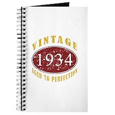 1934 Vintage (Red) Journal