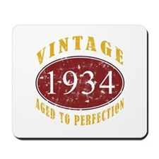 1934 Vintage (Red) Mousepad