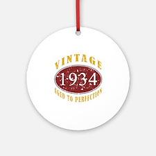 1934 Vintage (Red) Ornament (Round)