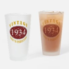 1934 Vintage (Red) Drinking Glass