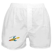 Rocket Scientist Rocket Ship Boxer Shorts