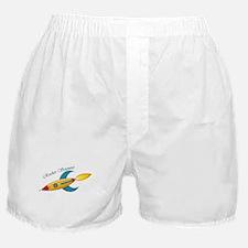 Rocket Scientist Rocket Ship Boxer Shorts