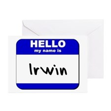 hello my name is irwin  Greeting Cards (Package of