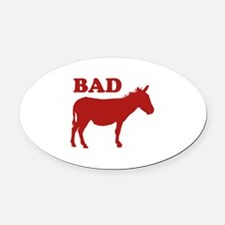 Badass Oval Car Magnet