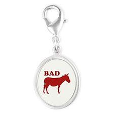 Badass Silver Oval Charm