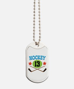 Hockey Player Number 13 Dog Tags