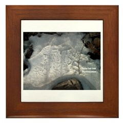 Bunde Rocks in SNOW Framed Tile