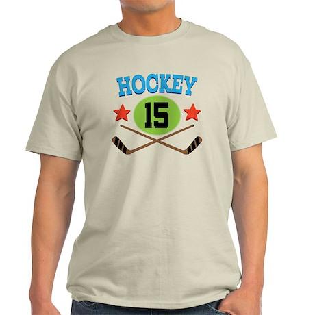 Hockey Player Number 15 Light T-Shirt