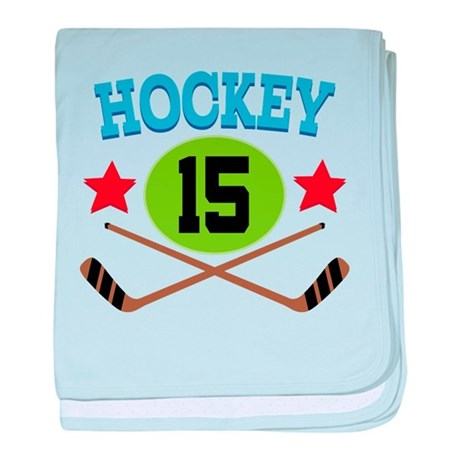 Hockey Player Number 15 baby blanket