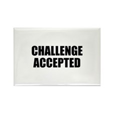 Challenge Accepted Rectangle Magnet