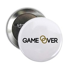 """Game over Wedding rings 2.25"""" Button"""