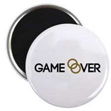 """Game over Wedding rings 2.25"""" Magnet (10 pack)"""