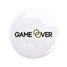 """Game over Wedding rings 3.5"""" Button"""