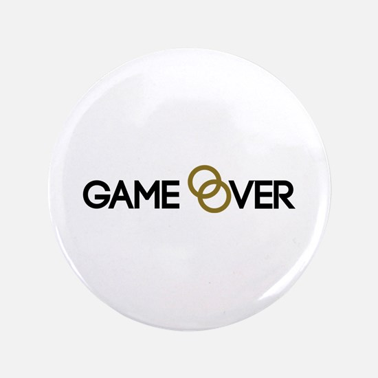 "Game over Wedding rings 3.5"" Button"