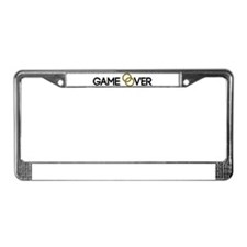 Game over Wedding rings License Plate Frame