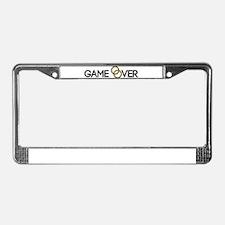 Game over Wedding rings License Plate Frame