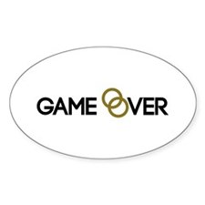 Game over Wedding rings Decal