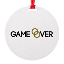 Game over Wedding rings Ornament