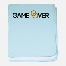 Game over Wedding rings baby blanket