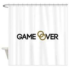 Game over Wedding rings Shower Curtain