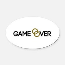 Game over Wedding rings Oval Car Magnet