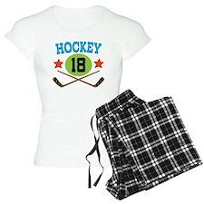 Hockey Player Number 18 Pajamas