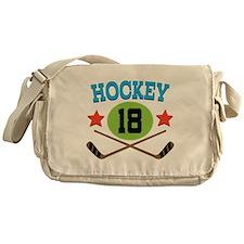 Hockey Player Number 18 Messenger Bag