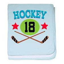 Hockey Player Number 18 baby blanket