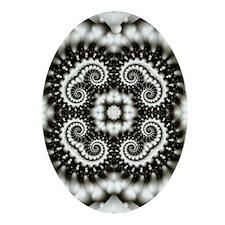 Grub Pattern Oval Ornament