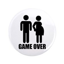 """Game over Pregnancy 3.5"""" Button (100 pack)"""