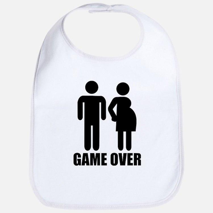 Game over Pregnancy Bib